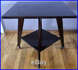 1950 Vintage Mid Century Modern Atomic Jet Danish Side End Accent Coffee Table