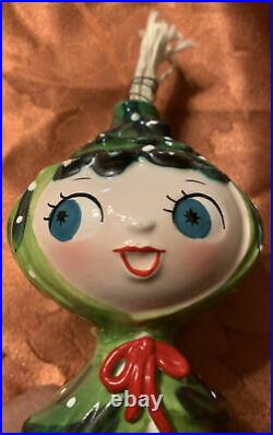 1959 Holt Howard Pixie Christmas Tree Girl Ceramic Atomic Age Retro Mid Century