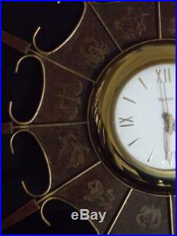 1960's Eames Atomic Era United Wall Clock # 230 Mid Century Modern Zodiac Star