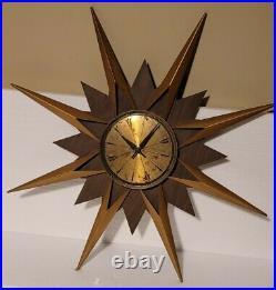 25 3/4 Elgin Starburst Atomic Works, Clock Mid Century modern steam punk rare