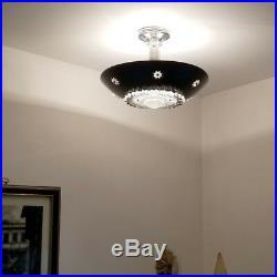 340b 50s 60s Vintage Ceiling Light Lamp Fixture atomic midcentury eames 1 of 3