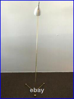 58 BRASS FLOOR LAMP Arteluce Eames Stilnovo Mid-Century Deco Atomic