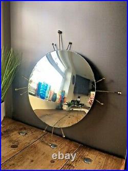60's Sputnik Atomic Convex Wall Mirror MID Century Modern Space Age 70s Sunburst