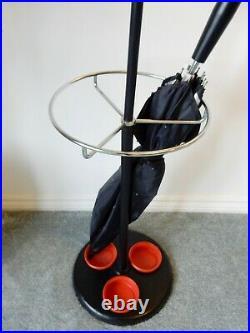 60s Hago atomic RED coat stand rack umbrella hooks vintage retro mid century mcn
