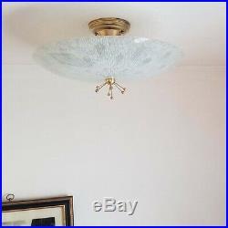 729b 50s 60's Vintage Ceiling Light Lamp Fixture atomic mid-century eames porch
