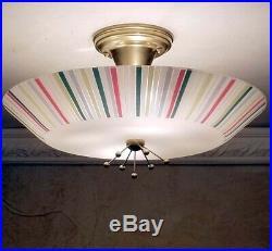 737b 60's 70's Vintage Ceiling Light Lamp Fixture atomic mid-century eames porch