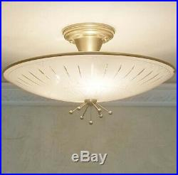 738b 60's 70's Vintage Ceiling Light Lamp Fixture atomic mid-century eames porch