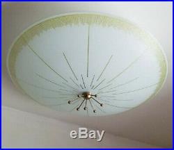 759b 50s 60's Vintage Ceiling Light Lamp Fixture atomic mid-century eames Moe