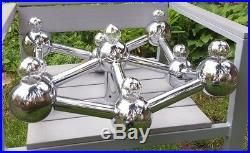 Atomic Kalmar Lamp Sputnik Chrome Mid Century Eames 60er 70er Space Age Stilnovo
