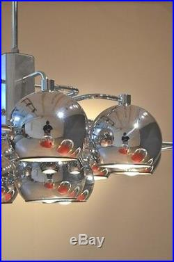 Atomic Mid Century DANISH MODERN SPUTNIK Chandelier Minimalist 1970s 1960s