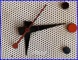 Cool Vintage 50s 60s Nutone Metal Atomic Wall Hanging Clock Mid Century Modern
