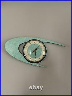 Handmade Atomic Mid-Century Modern Clock