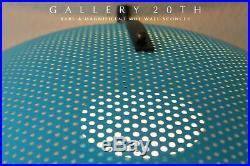 Iconic! MID Century Modern Moe Atomic Saucer Lamp! Blue Vtg Sputnik 50's Sconce