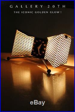 Iconic! MID Century Modern Snider Atomic Clock! Nelson Herman Miller Vtg 1950's