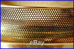 Kovacs! MID Century Sonneman Saucer Desk Lamp! Brass 70's 80's Ufo Atomic Panton