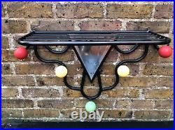 Large French Mid Century Mirrored Atomic Hat and Coat Rack