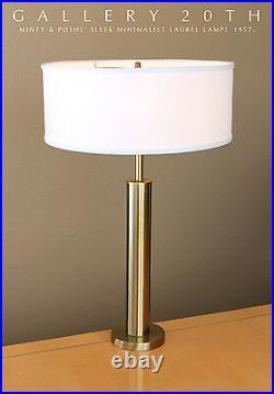 Laurel! MID Century Modern Table Lamp! 50s 60s Vtg Lightolier Atomic Brass Retro