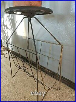 MCM Wire Plant Stand Mid Century Modern Atomic Ashtray Magazine Rack Vintage 20