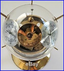 MID-CENTURY GERMAN SPUTNIK BAROMETER ATOMIC WEATHER STATION 1950s 50s Globe BGM