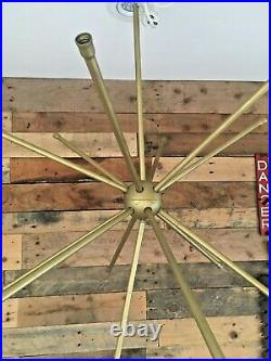 MID Century Modern 60's 70s Sputnik Atomic Gold Plastic Ceiling Chandelier Light