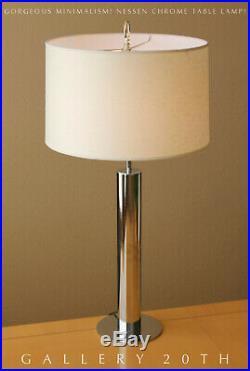 MID Century Modern Nessen Chrome Desk Lamp! Panton Atomic 1960s Vtg After Kovacs