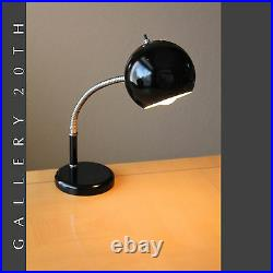 MID Century Modern Robert Sonneman Desk Lamp! Atomic Vtg Gooseneck Black 60s 50s