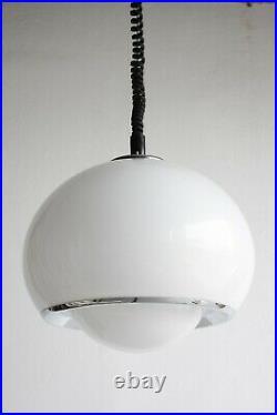 Meblo Guzzini Big Bud Pendant / Vintage Mid Century Atomic Age Ceiling Light