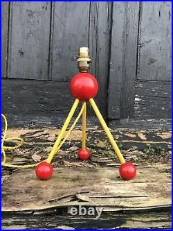 Mid 20th Century Atomic Sputnik Table Lamp Light MCM