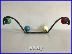 Mid Century Atomic Coat Hook, 4 Pegs, Retro Hat Rack 50s