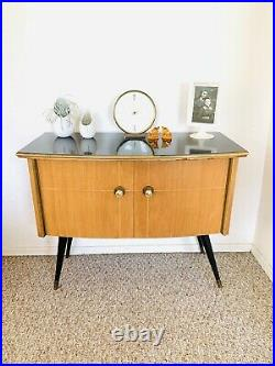 Mid Century Credenza Vintage Cabinet 50s chest of Drawer 60s Sideboard Atomic