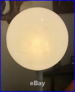 Mid Century Modern 1970s ORB BALL Floor Lamp Plastic Retro Atomic Vintage