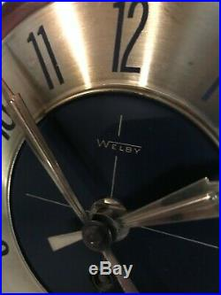 Mid Century Modern 25 Welby Atomic Starburst Wall Clock 1960's