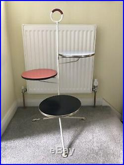 Mid Century Modern Atomic 3 Legged Coffee Table/ Plant Stand
