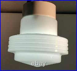 Mid Century Modern Atomic Contemporary Ceiling Light Fixture Lamp Milkglass