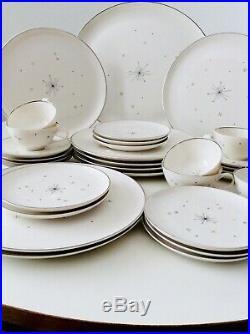 Mid Century Modern Atomic Star Syracuse China Dish Set Evening Star Pattern