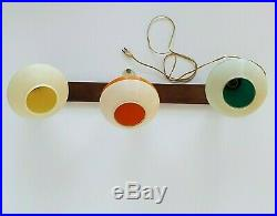 Mid Century Modern Atomic Triple Teardrop Wall Sconce Adj 3-Color Vintage Retro
