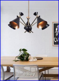 Mid Century Modern Light Fixture Retro Atomic Ceiling Pendant Hanging Black New