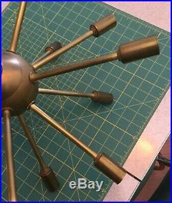 Mid-Century Modern SPUTNIK Atomic PENDANT Ceiling Lamp CHANDELIER Solid Brass