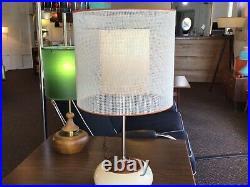 Mid Century Modern Vintage Double Lamp Shade Atomic Retro
