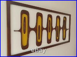 Mid Century Modern Wood Wall Art Sculpture inspired by 1960s atomic age