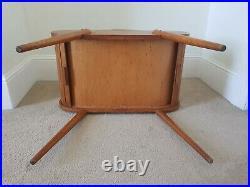 Mid-Century Retro Atomic Sputnik Tambour Roll Top Sewing Craft Box Cabinet