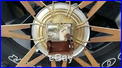 Mid Century Sunburst Starburst Atomic Clock Midcentury MCM Vintage Modern