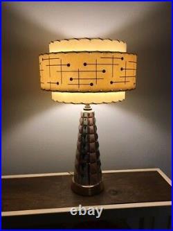 Mid Century Vintage Style 3 Tier Fiberglass Lamp Shade Modern Atomic Retro IBM