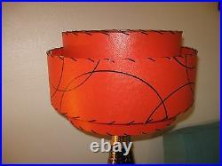 Mid Century Vintage Style 3 Tier Fiberglass Lamp Shade Modern Atomic Retro T3