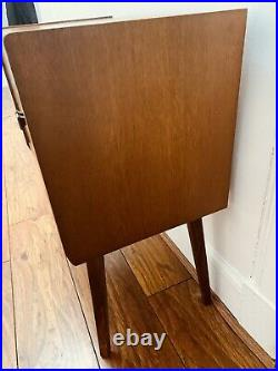Mid Century Vinyl Record Cabinet 1950s Atomic Courier Delivery Available
