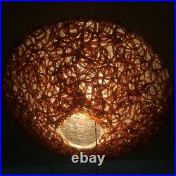 Mid-century Lucite Spaghetti Chandelier Lampshade, Atomic Sputnik Lamp Light