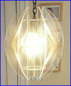 Mid-century Lucite String Swag Chandelier Paul Secon SOMPEX Atomic Retro Modren