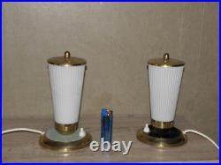PAIR lamp bedside Bed Side MID CENTURY MODERN Vintage light atomic age retro old