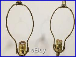 Pair Quartite Creative Corp Ceramic Lamp Atomic Genie Mid Century Modern 1960