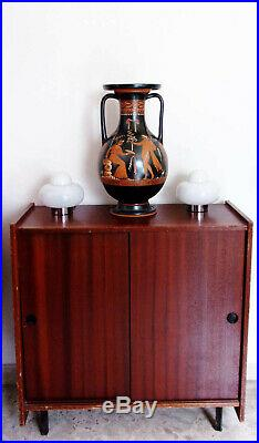 Pair Vintage Atomic Age Mushroom Table Lamp Italy 70s Sputnik Mid Century Design